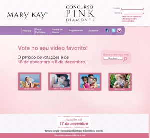 Website responsivo - Mary Kay - Home Page